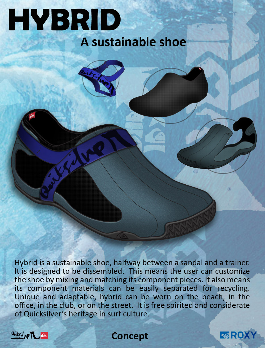 Hybrid sustainable shoe concept